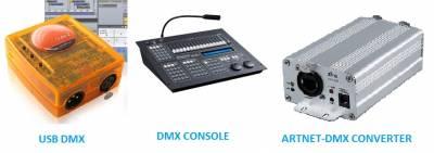 Существующие устройства управления DMX 512